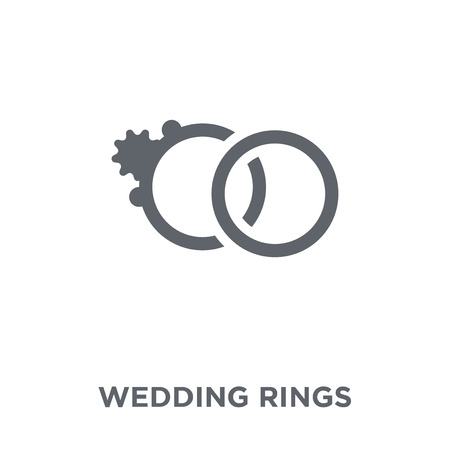 Wedding Rings icon. Wedding Rings design concept from Wedding and love collection. Simple element vector illustration on white background.