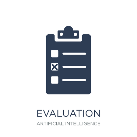 Evaluation icon. Trendy flat vector Evaluation icon on white background from Artificial Intelligence, Future Technology collection, vector illustration can be use for web and mobile, eps10 Stok Fotoğraf - 112001147