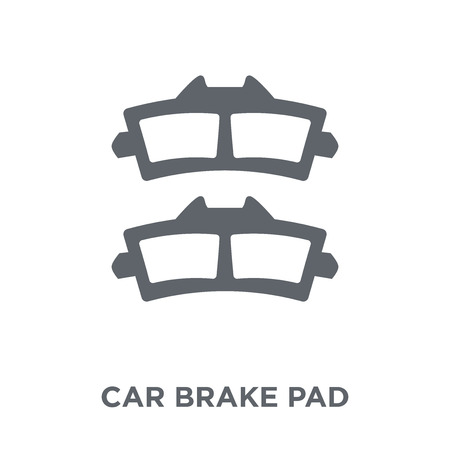car brake pad icon. car brake pad design concept from Car parts collection. Simple element vector illustration on white background.