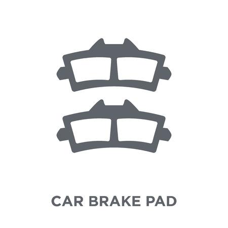icône de plaquette de frein de voiture. concept de conception de plaquettes de frein de voiture de la collection de pièces de voiture. Illustration vectorielle élément simple sur fond blanc.