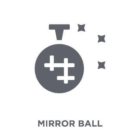 Mirror ball icon. Mirror ball design concept from Birthday and Party collection. Simple element vector illustration on white background.