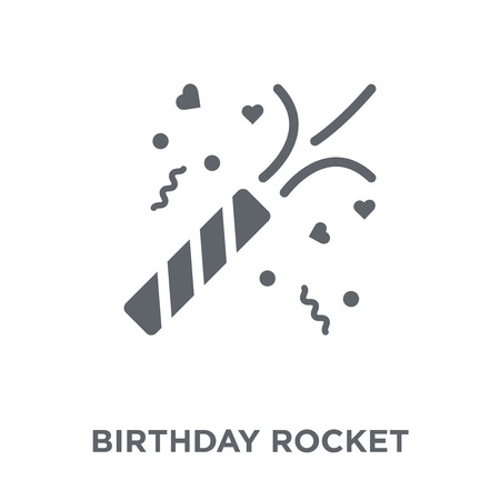 birthday rocket icon. birthday rocket design concept from Birthday and Party collection. Simple element vector illustration on white background. Stock Vector - 112001151