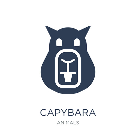Capybara icon. Trendy flat vector Capybara icon on white background from animals collection, vector illustration can be use for web and mobile, eps10 Ilustração