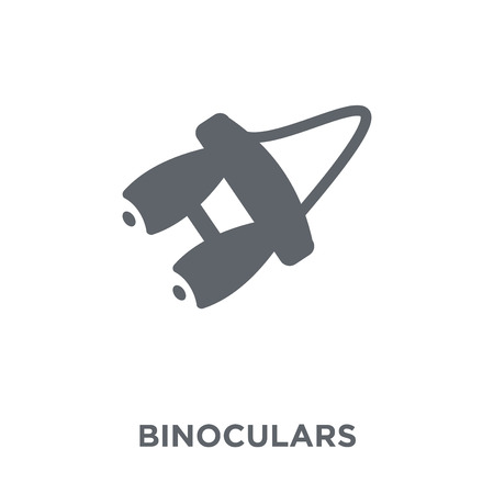 Binoculars icon. Binoculars design concept from Camping collection. Simple element vector illustration on white background. Zdjęcie Seryjne - 112001153