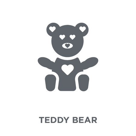 Teddy bear icon. Teddy bear design concept from Birthday and Party collection. Simple element vector illustration on white background.