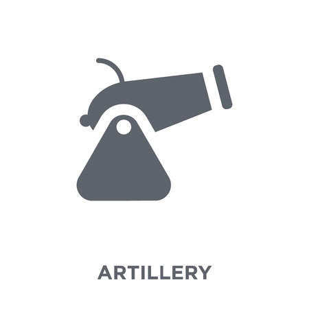 artillery icon. artillery design concept from Army collection. Simple element vector illustration on white background.