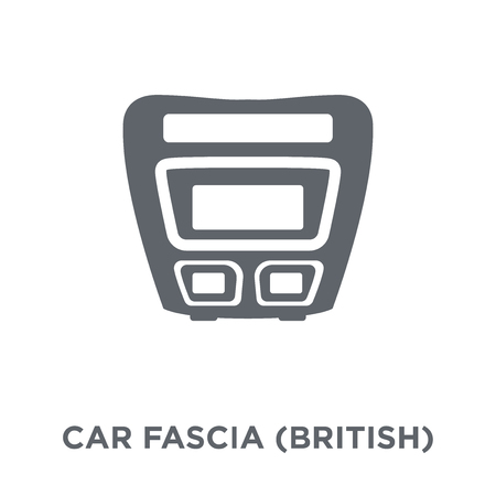 car fascia (British) icon. car fascia (British) design concept from Car parts collection. Simple element vector illustration on white background. 일러스트