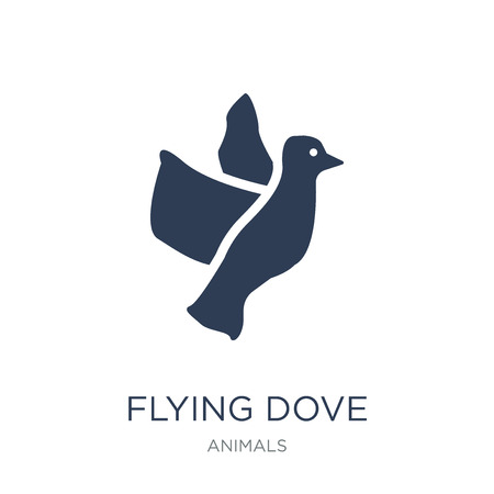 Flying Dove icon. Trendy flat vector Flying Dove icon on white background from animals collection, vector illustration can be use for web and mobile, eps10