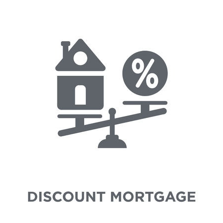 Discount mortgage icon. Discount mortgage design concept from Discount mortgage collection. Simple element vector illustration on white background. Illustration