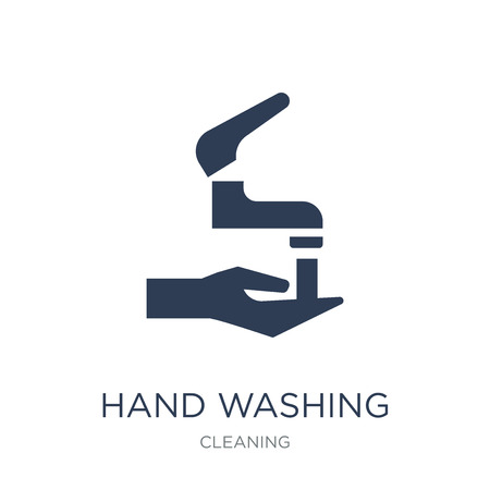 Hand washing icon. Trendy flat vector Hand washing icon on white background from Cleaning collection, vector illustration can be use for web and mobile, eps10