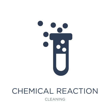 Chemical Reaction icon. Trendy flat vector Chemical Reaction icon on white background from Cleaning collection, vector illustration can be use for web and mobile, eps10