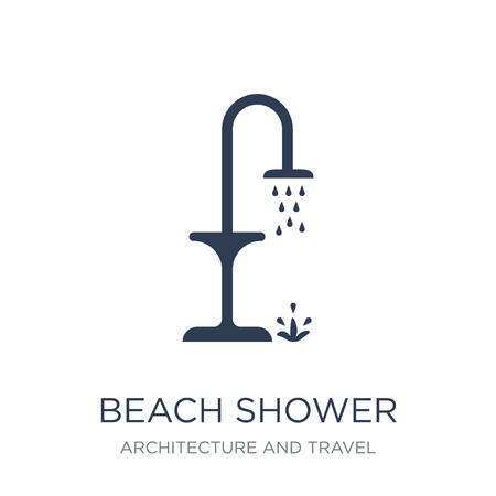 beach Shower icon. Trendy flat vector beach Shower icon on white background from Architecture and Travel collection, vector illustration can be use for web and mobile, eps10