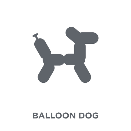 Balloon dog icon. Balloon dog design concept from Circus collection. Simple element vector illustration on white background.