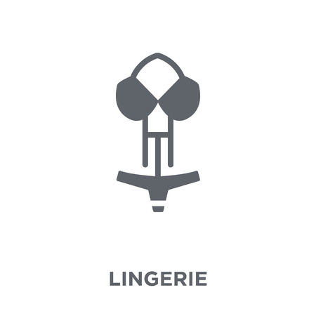 Lingerie icon. Lingerie design concept from Clothes collection. Simple element vector illustration on white background. Иллюстрация