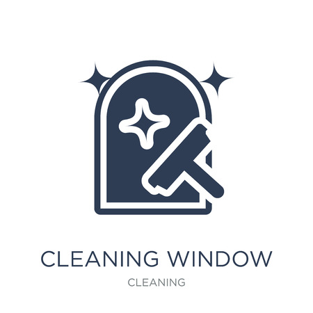 Cleaning Window icon. Trendy flat vector Cleaning Window icon on white background from Cleaning collection, vector illustration can be use for web and mobile, eps10