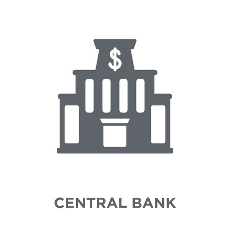 Central bank icon. Central bank design concept from Central bank collection. Simple element vector illustration on white background.