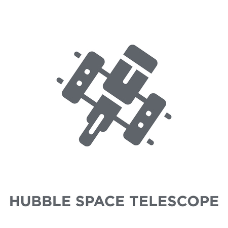 Hubble space telescope icon. Hubble space telescope design concept from Astronomy collection. Simple element vector illustration on white background.