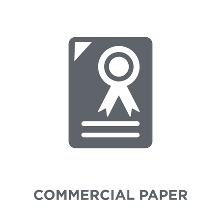 Commercial paper icon. Commercial paper design concept from Commercial paper collection. Simple element vector illustration on white background. Illusztráció