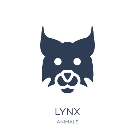 Lynx icon. Trendy flat vector Lynx icon on white background from animals collection, vector illustration can be use for web and mobile, eps10