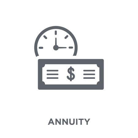 Annuity icon. Annuity design concept from Annuity collection. Simple element vector illustration on white background. Stock Vector - 112045590