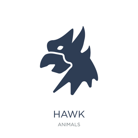 Hawk icon. Trendy flat vector Hawk icon on white background from animals collection, vector illustration can be use for web and mobile, eps10