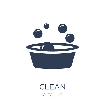 Clean icon. Trendy flat vector Clean icon on white background from Cleaning collection, vector illustration can be use for web and mobile, eps10 Çizim