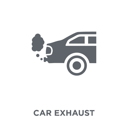 car exhaust icon. car exhaust design concept from Car parts collection. Simple element vector illustration on white background.