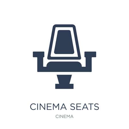 Cinema seats icon. Trendy flat vector Cinema seats icon on white background from Cinema collection, vector illustration can be use for web and mobile, eps10