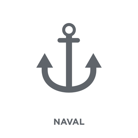 naval icon. naval design concept from Army collection. Simple element vector illustration on white background.