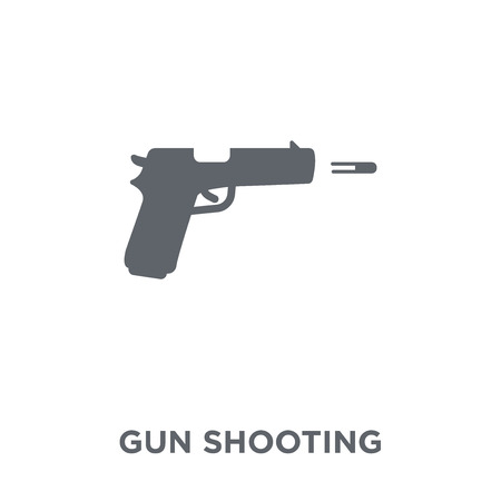 gun shooting icon. gun shooting design concept from Army collection. Simple element vector illustration on white background.