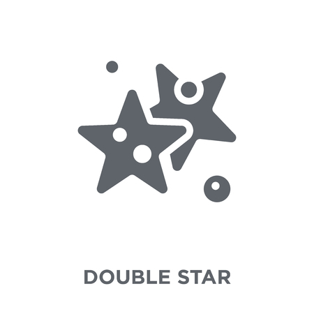 Double Star icon. Double Star design concept from Astronomy collection. Simple element vector illustration on white background. Stock Illustratie