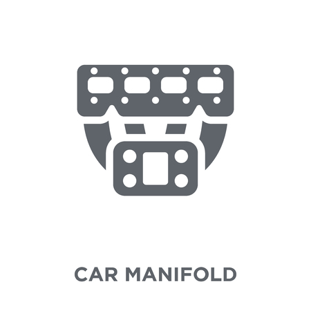 car manifold icon. car manifold design concept from Car parts collection. Simple element vector illustration on white background. 版權商用圖片 - 112046814