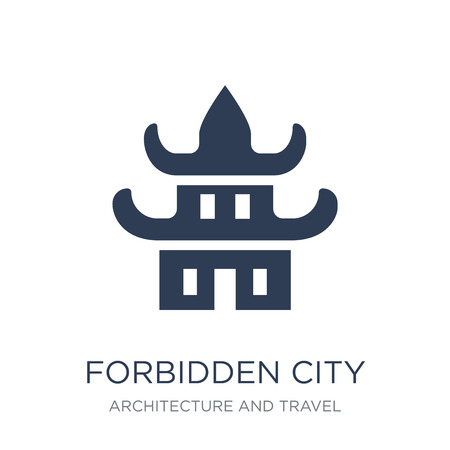 Forbidden city icon. Trendy flat vector Forbidden city icon on white background from Architecture and Travel collection, vector illustration can be use for web and mobile, eps10 Illustration