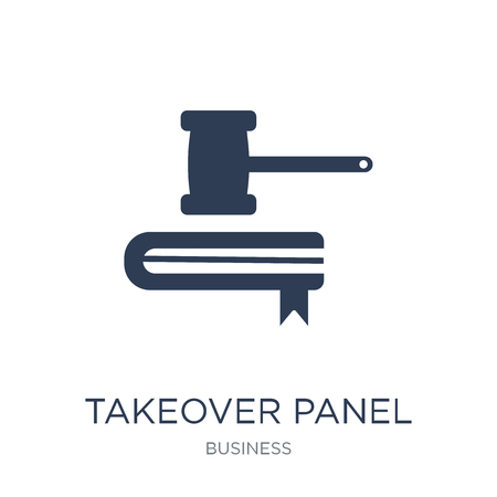 Takeover Panel icon. Trendy flat vector Takeover Panel icon on white background from business collection, vector illustration can be use for web and mobile, eps10 Illustration