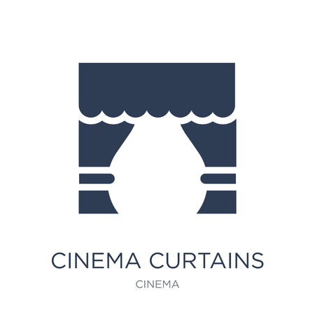 Cinema curtains icon. Trendy flat vector Cinema curtains icon on white background from Cinema collection, vector illustration can be use for web and mobile, eps10