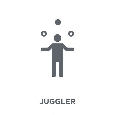 Juggler icon. Juggler design concept from Circus collection. Simple element vector illustration on white background. Stock Illustratie