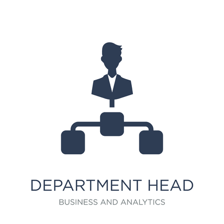 Department Head icon. Trendy flat vector Department Head icon on white background from Business and analytics collection, vector illustration can be use for web and mobile, eps10 Illustration