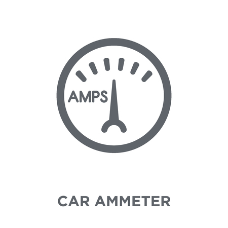 car ammeter icon. car ammeter design concept from Car parts collection. Simple element vector illustration on white background. Stock Illustratie