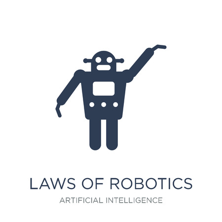 Laws of robotics icon. Trendy flat vector Laws of robotics icon on white background from Artificial Intelligence, Future Technology collection, vector illustration can be use for web and mobile, eps10 Illustration