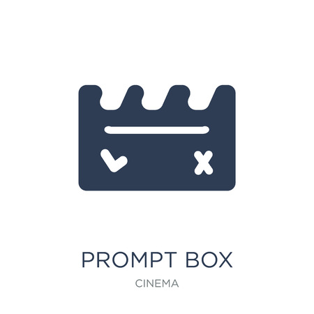 Prompt box icon. Trendy flat vector Prompt box icon on white background from Cinema collection, vector illustration can be use for web and mobile, eps10