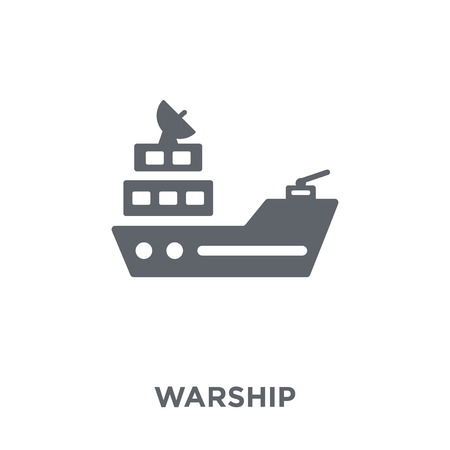 Warship icon. Warship design concept from Army collection. Simple element vector illustration on white background.