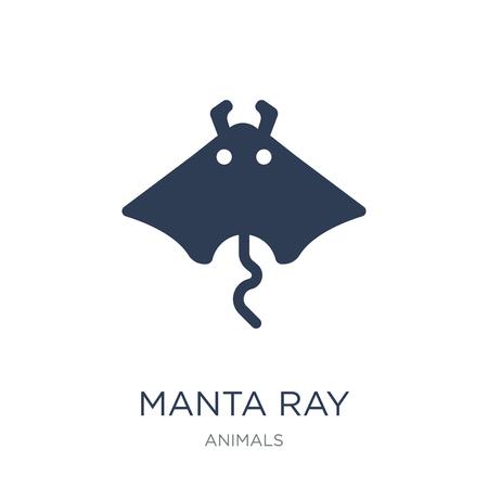 Mantarochen-Symbol. Trendiges flaches Vektor-Mantarochen-Symbol auf weißem Hintergrund aus der Tiersammlung, Vektorillustration kann für Web und Mobile verwendet werden, eps10