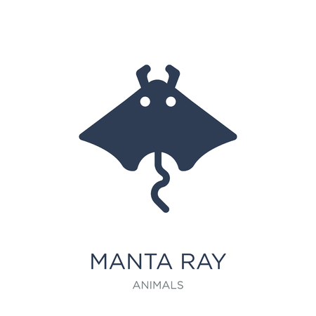 Manta ray icon. Trendy flat vector Manta ray icon on white background from animals collection, vector illustration can be use for web and mobile, eps10