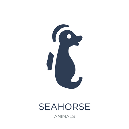 Seahorse icon. Trendy flat vector Seahorse icon on white background from animals collection, vector illustration can be use for web and mobile, eps10
