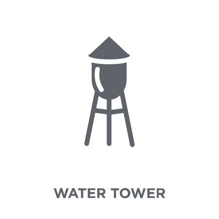 Water tower icon. Water tower design concept from Agriculture, Farming and Gardening collection. Simple element vector illustration on white background. Illusztráció