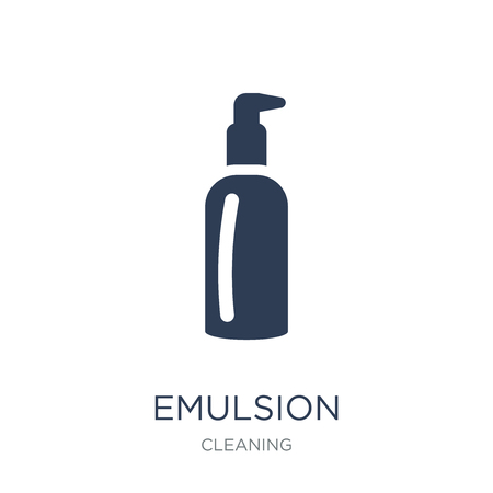Emulsion icon. Trendy flat vector Emulsion icon on white background from Cleaning collection, vector illustration can be use for web and mobile, eps10