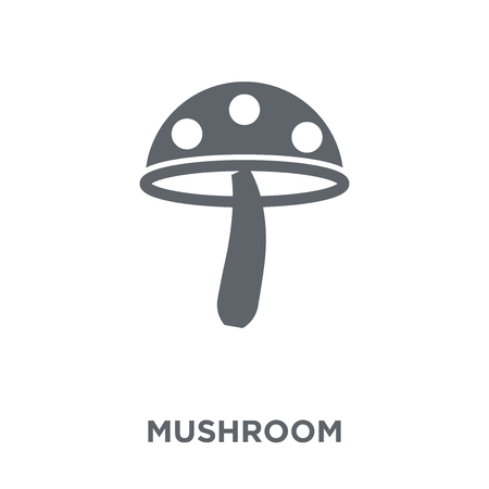 Mushroom icon. Mushroom design concept from Agriculture, Farming and Gardening collection. Simple element vector illustration on white background.