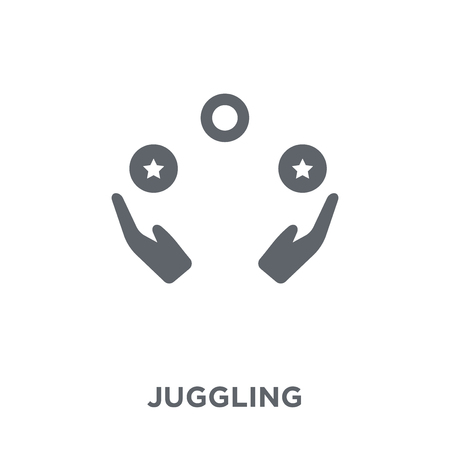 Juggling icon. Juggling design concept from Circus collection. Simple element vector illustration on white background.