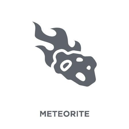 Meteorite icon. Meteorite design concept from Astronomy collection. Simple element vector illustration on white background.