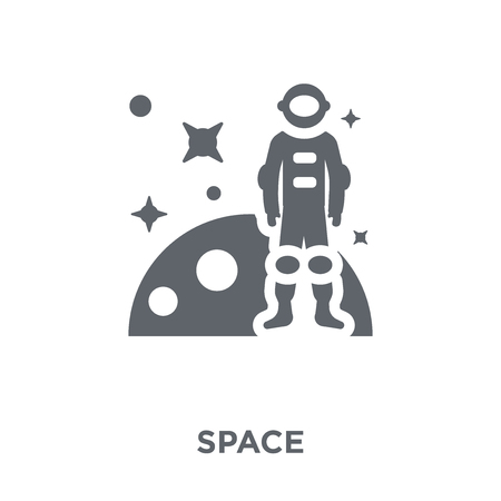 Space icon. Space design concept from Astronomy collection. Simple element vector illustration on white background.